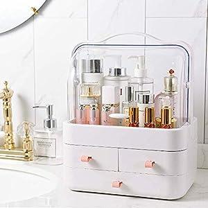 Kertou Organizador del Maquillaje, Cajas de Almacenamiento de Maquillaje, Organizador de joyería multifunción para Maquillaje, Cosméticos Joyería Organizador