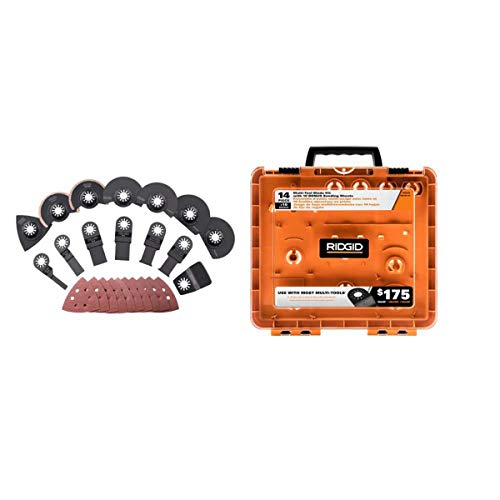 Lowest Prices! New Ridgid 14 Pc Jobmax Multi-Tool Accessory Cutting Grinding Blade Kit Ac24j14