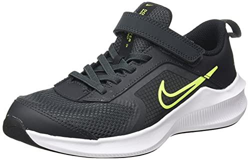 Nike Downshifter 11, Zapatos de Tenis Unisex niños, Dk Smoke Grey Volt Black White, 34 EU