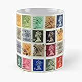 Berealandco Collect Collection Closeup British Background Correspondence Backdrop Britain Taza de café con Leche 11 oz