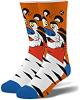 Odd Sox, Unisex, Food, Breakfast Cereal, Crew Socks, Novelty Funny Cool Silly