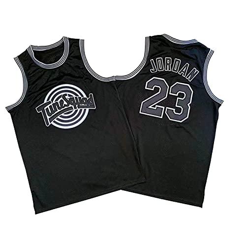 Camiseta de baloncesto para hombre, 23 # Bulls Jordan, Big Slam Dunk retro, de malla, transpirable y de secado rápido, suave y suave, color negro y XL