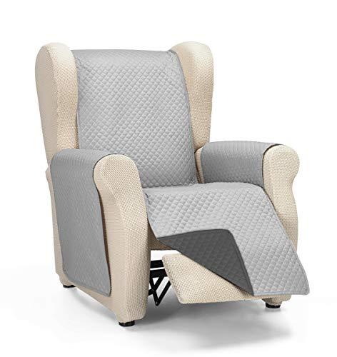 Martina Home Diamond Cubre Sofa Acolchado Reversible, Gris - Antracita, 1 Plaza/Relax