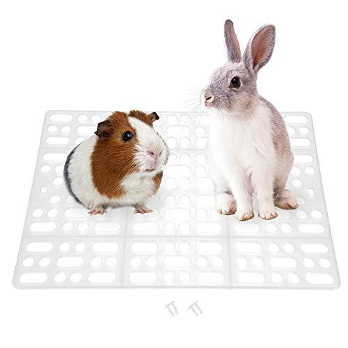 Alfombrilla para jaula de conejo Alfombrilla para mascotas duradera Diseño de agujero Fugas de agua Almohadilla para pies de plástico Fácil de limpiar Almohadilla para nido para conejillo ( Bl