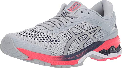 ASICS Women's Gel-Kayano 26 Running Shoes, 8M, Piedmont Grey/Silver
