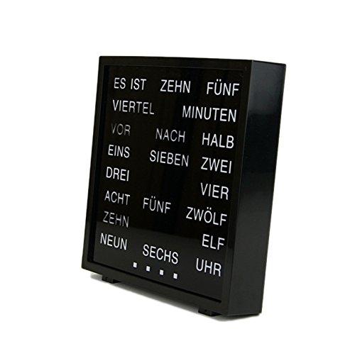 Geschenkbox LED Wort Uhr Word Clock Tischuhr Deutsch