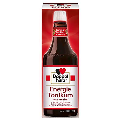 Doppelherz Energie Tonikum Herz-Kreislauf – Arzneimittel traditionell angewendet zur Unterstützung der Herz-Kreislauf-Funktion bei nervlicher Belastung – 1000 ml