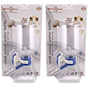Choco Nose H128 No Drip Guinea Pig Water Bottle Best Small Animal Wire Cage Dispenser Waterer U.S Patent Leak-Proof Nozzle Pet Crate Drinker Bunny Ferret Hamster Critter BPA-Free (Blue X2)