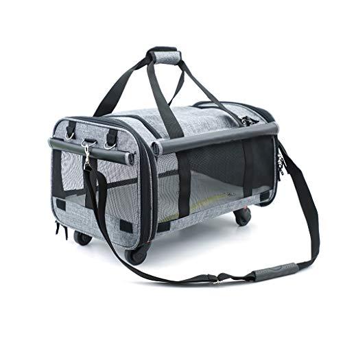 ZZL Mochila para mascotas transpirable para transportar mascotas, bolsa de transporte de mascotas, bolsa universal para perros y gatos, nailon cómodo (color: B)