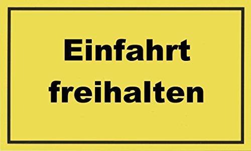 """Metafranc Hinweisschild \""""Einfahrt freihalten\"""" - 300 x 200 mm / Beschilderung / Infoschild / Verbotsschild / Halteverbot / Parkverbot / Grundstückskennzeichnung / Gewerbekennzeichnung / 500240"""
