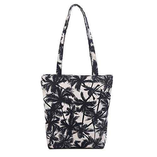 Linkay Neuer HeißEr Verkauf Mode Wild Damen Canvas Messenger Tasche Handtasche Leopard Drucken UmhäNgetasche Rucksack-Schwarz