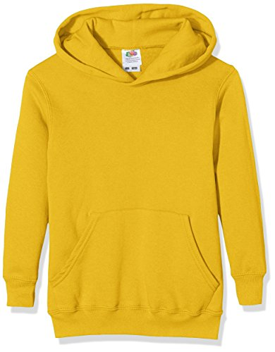 Sudadera amarilla clásica con capucha