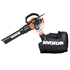 [LEAF BLOWER, MULCHER & VACUUM] The proprietary design changes from a blower to a vacuum with a mulcher with just the turn of a dial. Blow, vacuum, and mulch all day long if you want. But you won't have to. The Worx Trivac makes quick work of yard wo...