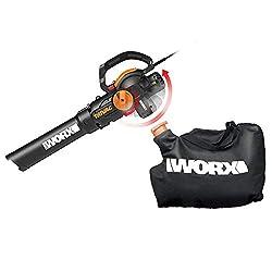 top 10 mulchers WORX WG512 Trivac 2.0 Electric 12 Amp 3-in-1 Vacuum Cleaner / Mulcher / Vacuum Cleaner, Black and Orange