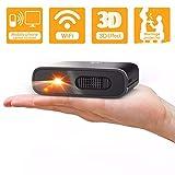 Mini Proyector Portátil WiFi 3D - Artlii Mana DLP Proyector para Exteriores, Batería Recargable, Compatible con iPhone / Android