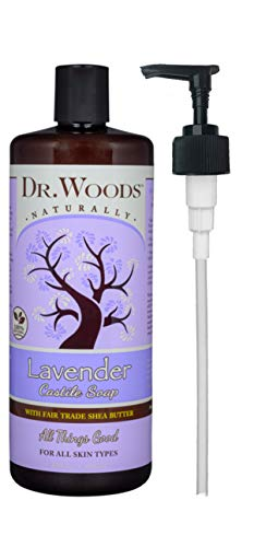 Dr. Woods Lavender Castile Soap with Organic Shea Butter and Pump, 32 Ounce