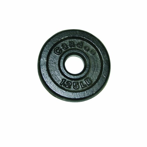 CanDo 10-0600 Iron Disc Weight Plate, 1.25 lb