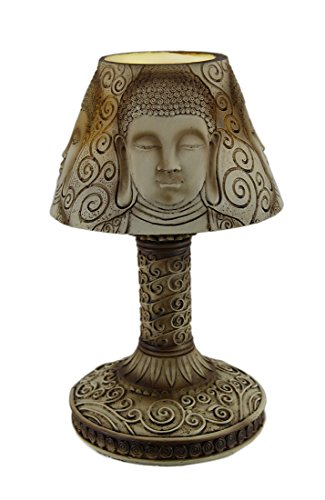 10 Inch Tall Battery Operated Buddha Shade LED Accent Lamp