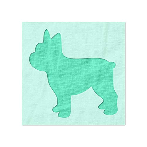Stencil Stop French Bulldog Dog Silhouette Stencil - Reusable for DIY Projects, Painting, Drawing, Crafts - 14 Mil Mylar Plastic (3 x 3 inches)