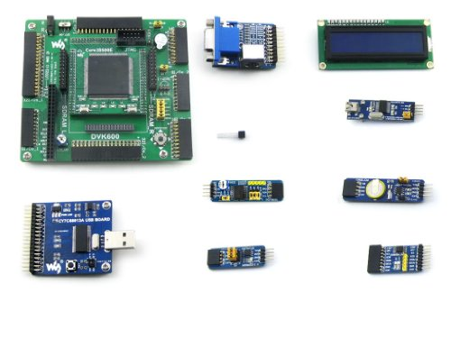 Waveshare XC3S500E XILINX Spartan-3E XILINX FPGA Development Board + 8 Accessory Modules Kits