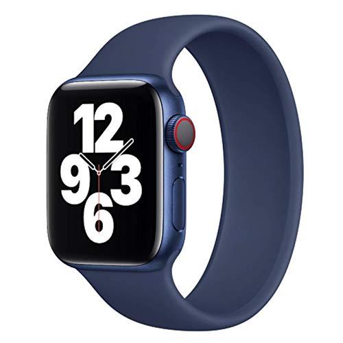 FYWWJ Correa para Apple Watch Band 44mm 40mm iwatch Band 42mm 38mm Apple Watch 6/5/4/3/2/1 44mm Accesorios pulsera de silicona azul marino profundo, 38mm-40mm, S