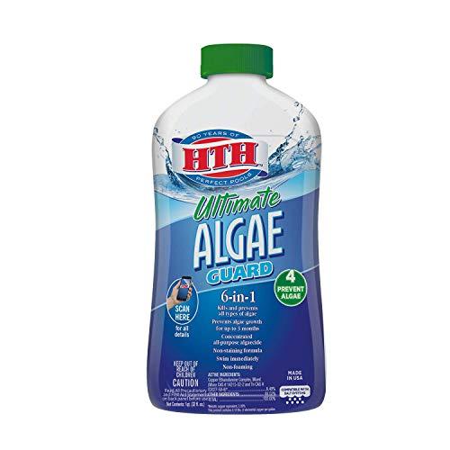 HTH 67033 Ultimate Algae Guard Swimming Pool Algaecide Cleanser, 1 qt