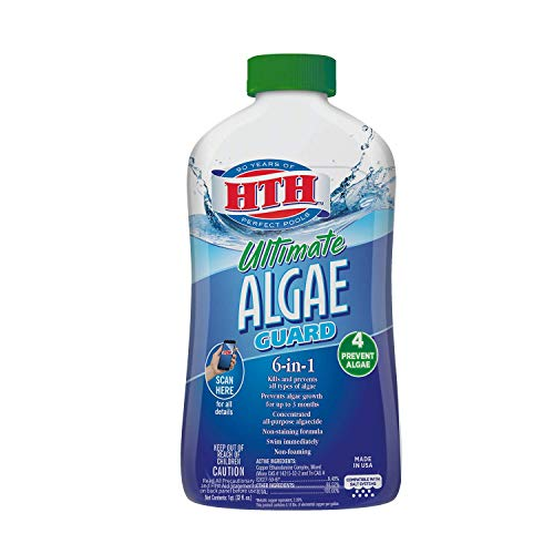 HTH 67033 Ultimate Algae Guard Swimming Pool Algaecide Cleanser, 1 qt