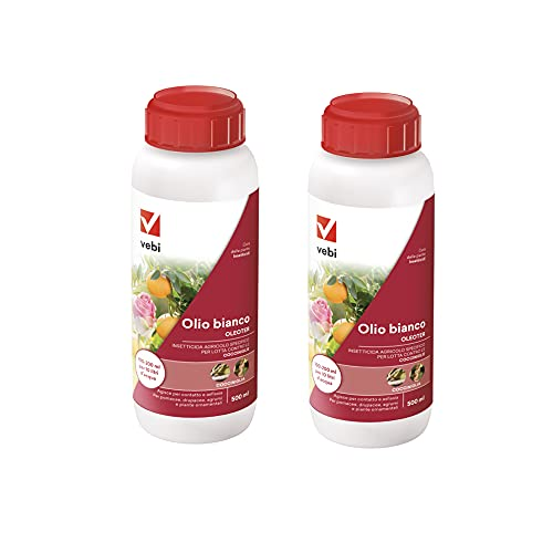 VEBI Olio Bianco per Piante Oleoter 500 ml 2 Confezioni   2X cocciniglia insetticida   Antiparassitario Piante   Anticocciniglia per Piante