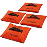 GoSports Sports Net Sand Bags Set of 4 | Weighted Anchors for Baseball Nets, Soccer Goals, Golf Nets, Football Nets, Hockey Nets and More, Orange