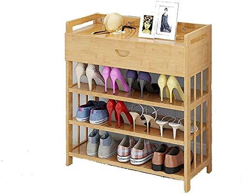 Wddwarmhome Zapato de bambú Zapato Rack Tipo Económico Espacio Montaje Hogar Multifuncional Puerta a Prueba de Polvo Zapatos Estante (Size : 70cm*26cm*73cm)
