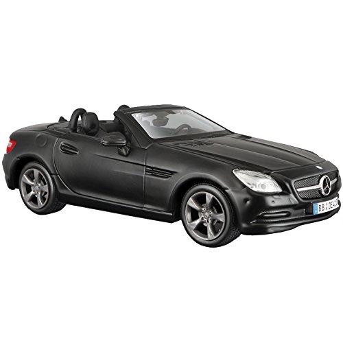 Maisto Mercedes SLK 2011: getrouw modelauto 1:24, deuren en motorkap te openen, klaar model, 20 cm, zwart (531206M)