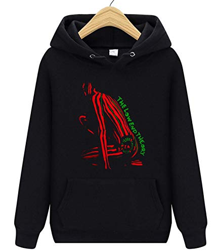 The Low End Theory Unisex Graphic Hoodie Sweaterwear for Mens and Women Black
