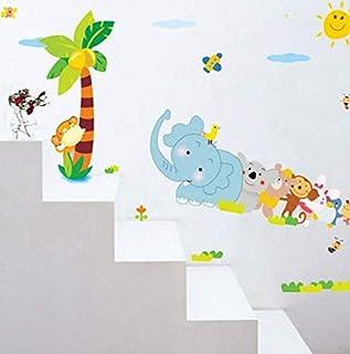 Children Room Vinyl Wallpaper Cartoon Animals Wall Stickers