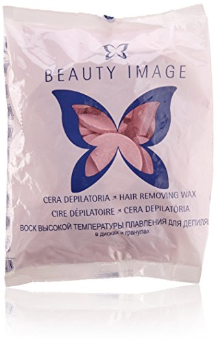 Beauty Image 20006101, Cera Depilatoria, pastilla, Rosa, 1000 gr