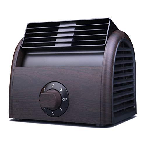 Zhangapn1 Mini-ventilator, leafless, innovatief, voor kleine kantoren, studenten, kantoor, slaapzak, stil, USB, voor koeling, airconditioning