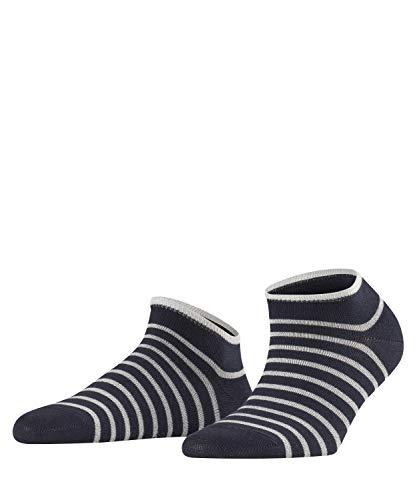 FALKE Damen Sneakersocken Nautical, Baumwollmischung, 1 Paar, Blau (Dark Navy 6370), Größe: 35-38