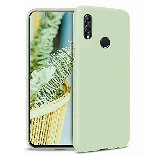 CRABOT Compatibile con Huawei P Smart 2019/Honor 10 Lite Custodia Silicone Liquido Antiurto Gomma Gel Morbido Anticaduta Resistente Ai Graffi Shell del Telefono+1*(Protezione Schermo Gratuita)-verde