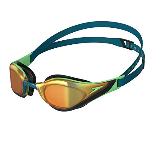 Speedo Fastskin Pure Focus Mirror Gafas De Natación, Unisex Adulto, Nordic Teal/Green Glow/Gold Shadow, Talla Única