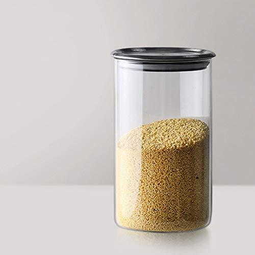 Tarro de Almacenamiento Hermético de cristal de almacenamiento de alimentos tarros de caja / Cocina Snacks de contenedores, Pila-poder de almacenamiento de alimentos Conjunto, 610ml / 850lml / 1160ml