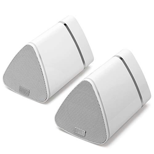 August MS515 - 2x 5W Altavoces estéreos inalámbricos con Bluetooth Cable de altavoz a altavoz y Batería interna recargable