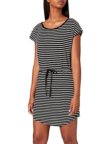 Only Onlmay S/s Dress Noos Vestido, Multicolor (Black Stripes: Thin Stripe Cl. Dancer), 42 (Talla del Fabricante: Large) para Mujer