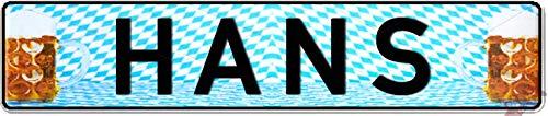 Nummernschild zum Selbstgestalten und bedruckt ✓ Individuelles Namensschild, Aluminium-Schild | Autoschild mit Namen & Spruch selbst gestalten und geprägt | Aluschild ✓ Kfz-Kennzeichen-Schilder ✓
