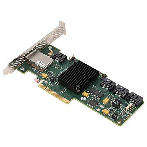 Bewinner SAS 9212-4I4E-Kartenadapter 6 Gbit/s SATA + 4 * Mini-SAS-RAID-Controller-Karte HBA-Karte Hochgeschwindigkeits-Lese- / Schreibzugriff für interne Server- und Externe Speicher-Arrays IT-Modus