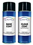 Spectral Paints Compatible/Replacement for Volvo 614 Ice White 12 oz. Aerosol Spray Paint and Clear Coat