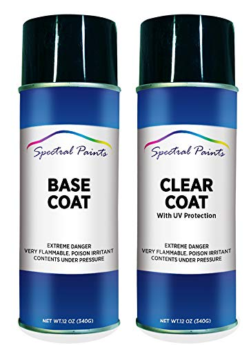 Spectral Paints Compatible/Replacement for BMW 668 Jet Black 12 oz. Aerosol Spray Paint and Clear Coat
