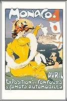 ポスター アレキサンダー グラン CANOTS AUTOMOBILES 額装品 アルミ製ハイグレードフレーム(シルバー)