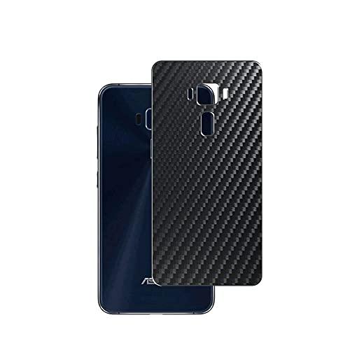 VacFun 2 Piezas Protector de pantalla Posterior, compatible con ASUS ZenFone 3 5.2inch ZE520KL ZenFone3, Película de Trasera de Fibra de carbono negra Skin Piel