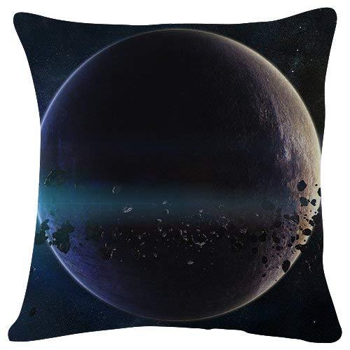 Throw Pillow Covers Raumplaneten Asteroiden Sterne Gürtel Galaxie Kissenbezug Dekorative Büro Doppelseitige Sofa Reißverschluss Mode 45X45Cm Kissenbezug Drucken Dauerhafte Couch FA