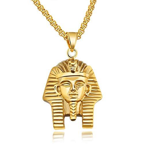 Collar Colgante Joyería Collar Vintage Hombres Hip Hop Joyas De Acero Inoxidable-Oro