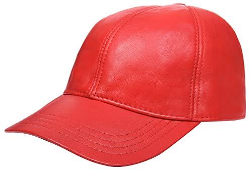 Infinity Leather Echtes Rot Nappa Leder Für Herren Und Damen Einstellbar Golf Snapback Plain Baseball Mütze